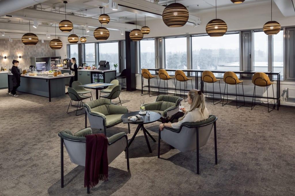 Kuva Hills Business Parkin kahvila & lounge-alueesta